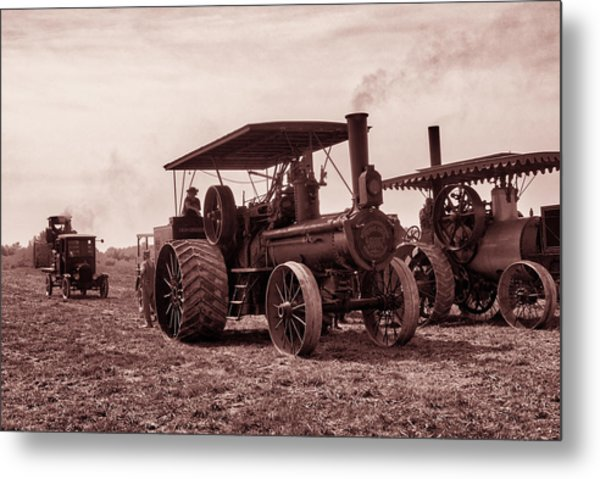 Heading Out Antiqued Metal Print