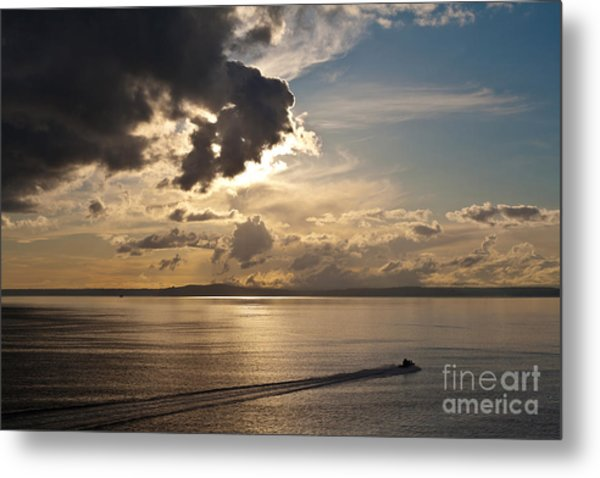 Heading Out On Sunset Patrol Metal Print