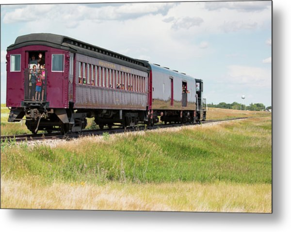 Metal Print featuring the photograph Heading To Town by David Buhler