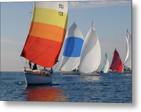 Heading Towind Windward Mark Metal Print