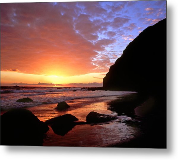 Headlands At Sunset Metal Print