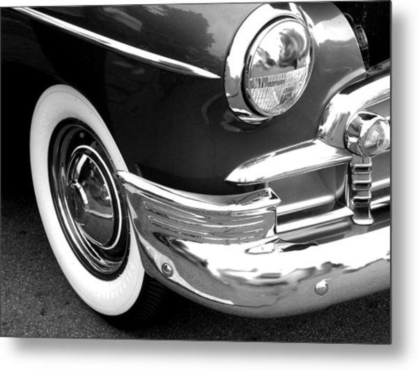 Headlight Metal Print by Audrey Venute