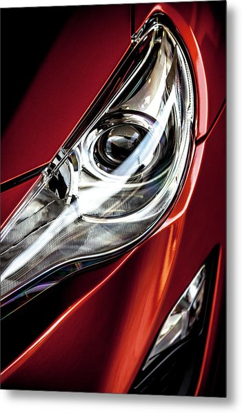 Metal Print featuring the photograph Headlight by Eric Christopher Jackson