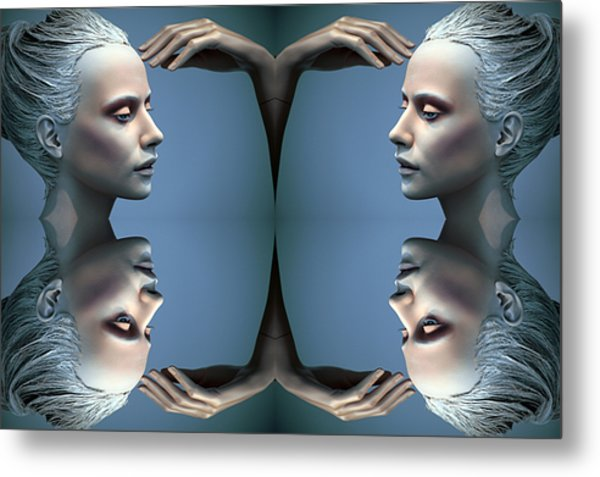 Heads As One Thought Metal Print