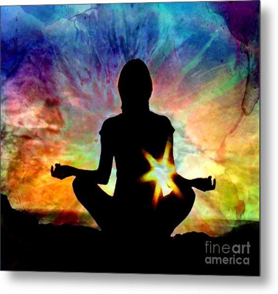 Healing Energy Metal Print