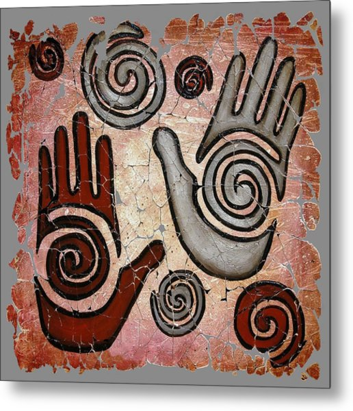 Healing Hands Fresco  Metal Print