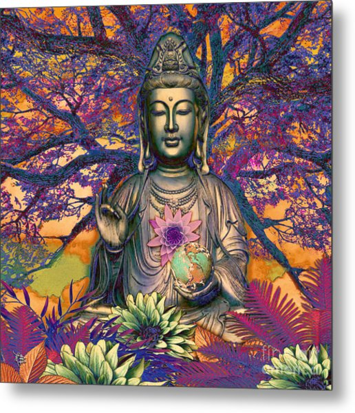 Metal Print featuring the mixed media Healing Nature by Christopher Beikmann