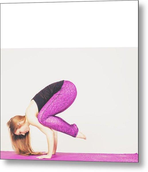 #health #fitness #fit #fitnessmodel Metal Print