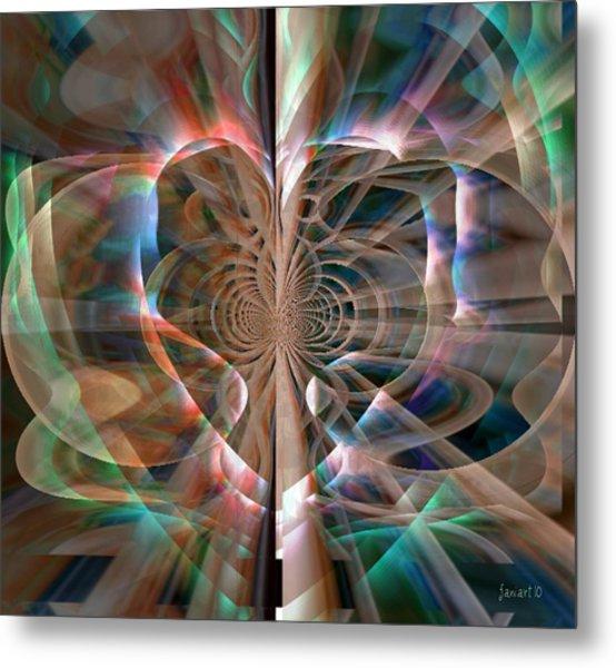Heart Born To Love Metal Print by Fania Simon