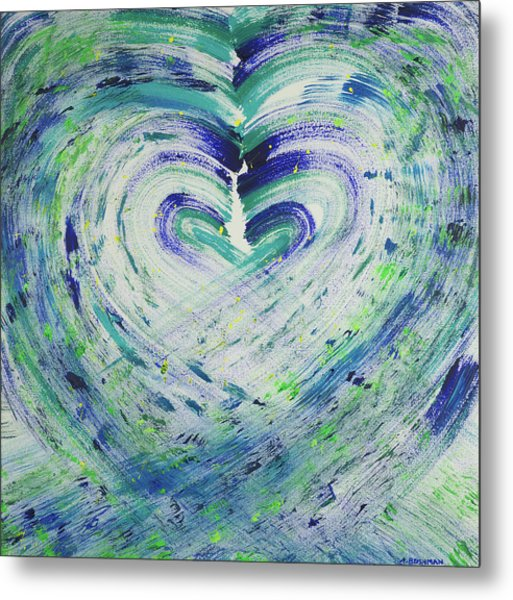 Heart Centered Peace And Love Metal Print