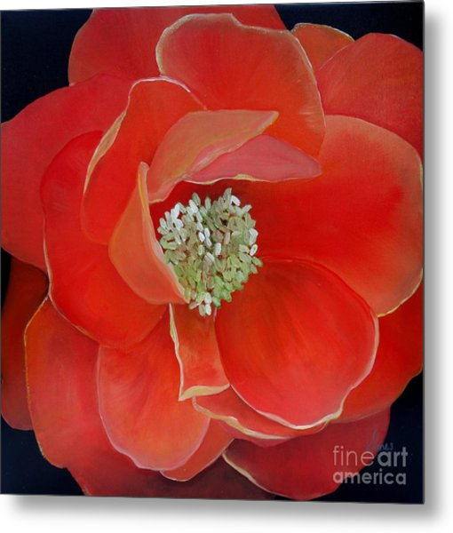 Heart-centered Rose Metal Print