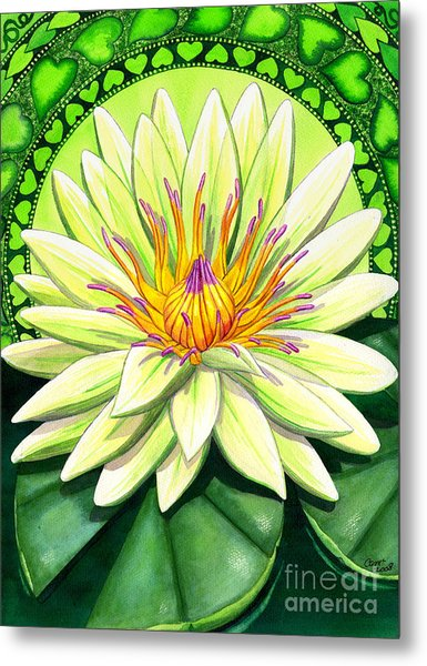 Heart Chakra Metal Print by Catherine G McElroy