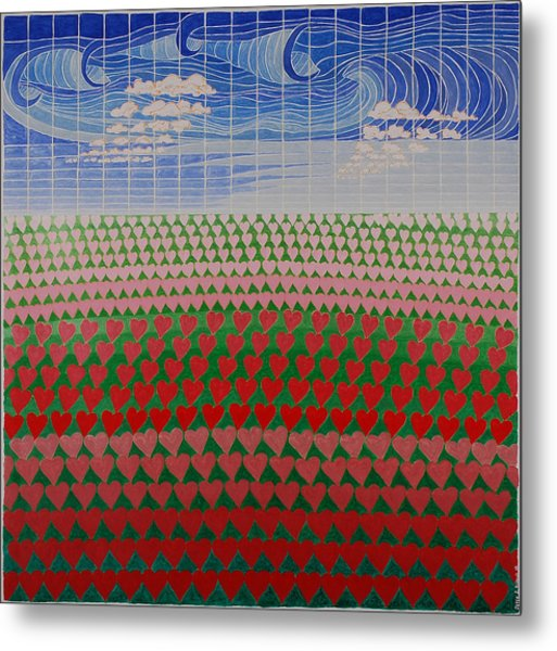 Heart Fields Metal Print