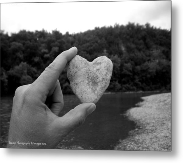 Heart Of Stone Metal Print