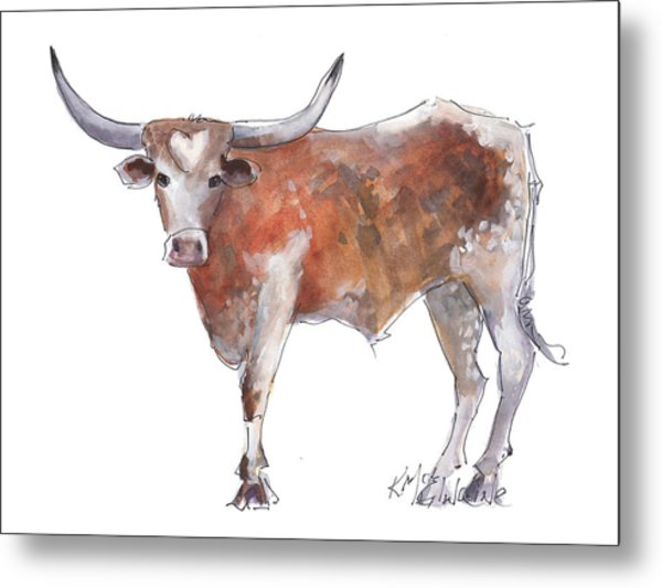 Heart Of Texas Longhorn Metal Print
