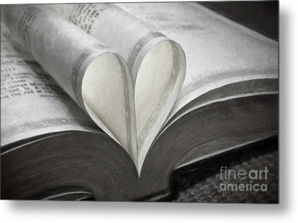 Heart Of The Book  Metal Print