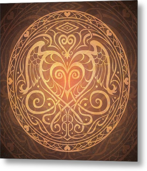 Heart Of Wisdom Mandala Metal Print
