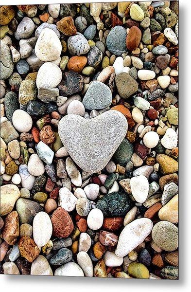 Heart-shaped Stone Metal Print
