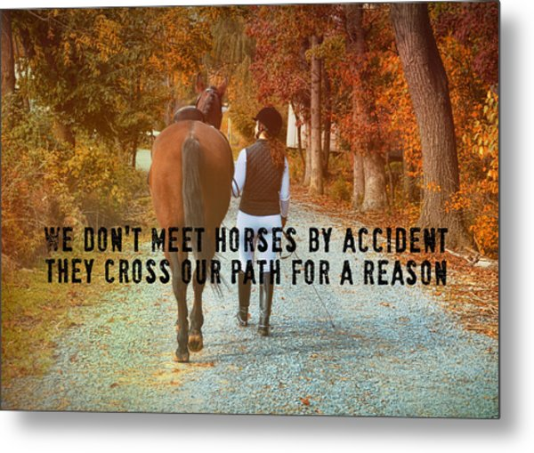 Heart To Heart Quote Metal Print