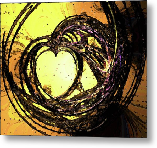 Heart Waves Metal Print