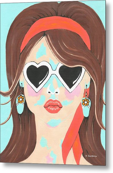 Heartbreaker - Contemporary Woman Art Metal Print