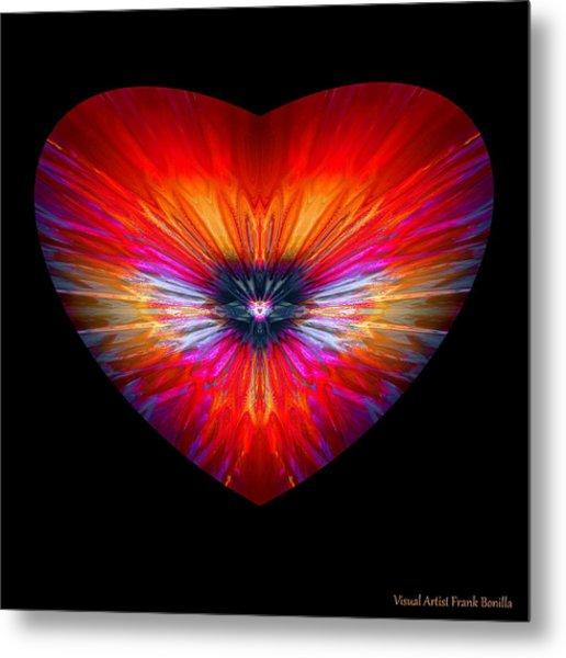 Metal Print featuring the digital art Hearts #26 by Visual Artist Frank Bonilla