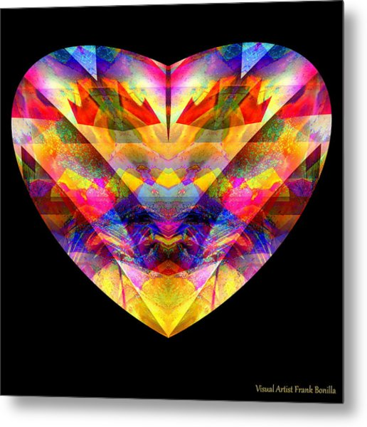 Metal Print featuring the digital art Hearts #27 by Visual Artist Frank Bonilla