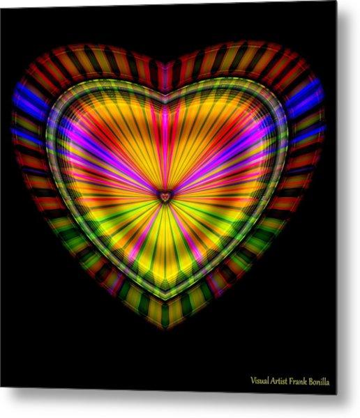 Metal Print featuring the digital art Hearts #9 by Visual Artist Frank Bonilla