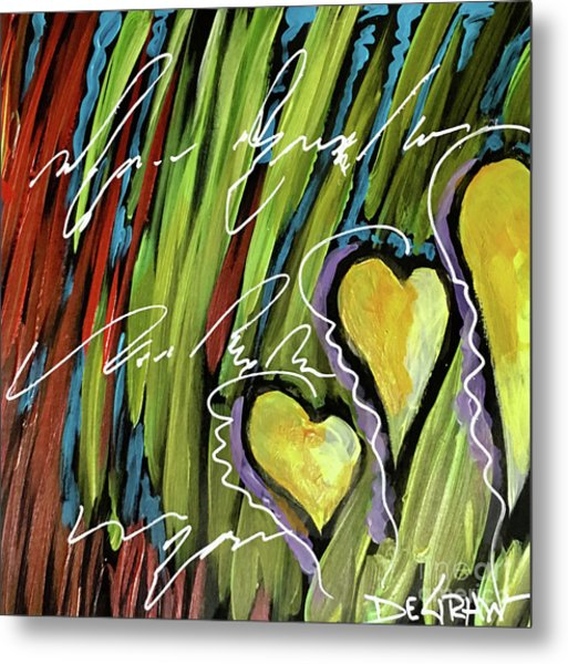Hearts In The Grass Metal Print