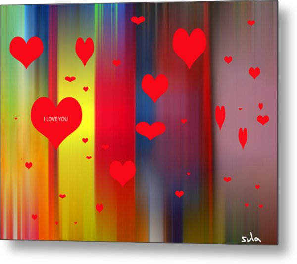 Hearts Metal Print by Sula Chance