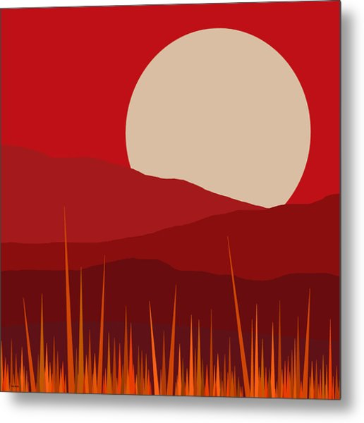 Heat - Red Sky  Metal Print