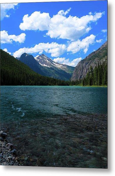 Heavan's Peak From Avalanche Lake Metal Print