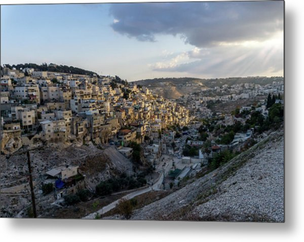 Heaven Shines On The City Of David Metal Print