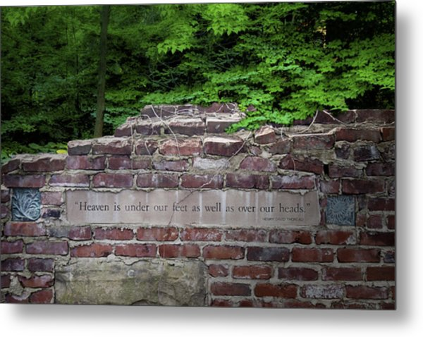 Heaven Under Our Feet Wall Metal Print