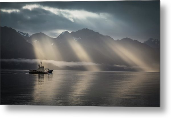 Heavenly Light Metal Print