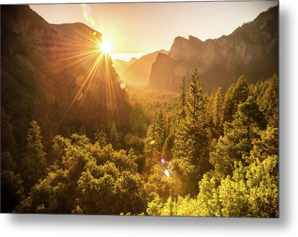 Heavenly Valley Metal Print