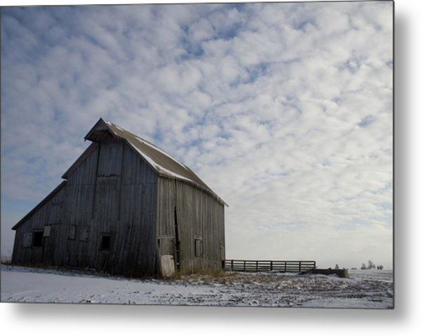 Heavens Barn Dusting Metal Print