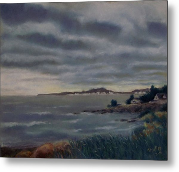Heavy Clouds Over Rye Metal Print by Marcus Moller