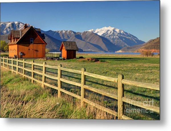 Heber Valley Ranch House - Wasatch Mountains Metal Print