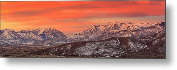 Heber Valley Sunrise Panorama. Metal Print