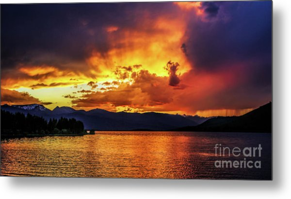 Metal Print featuring the photograph Hebgen Lake Sunset by Jemmy Archer