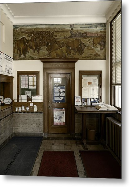 Hebron Nebraska Post Office Mural Metal Print