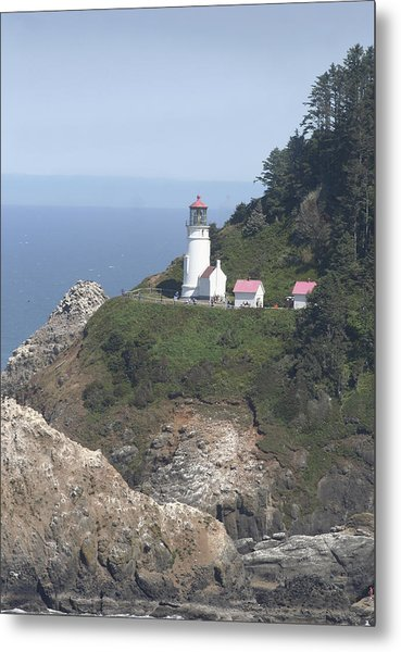 Heceta Head Lighthouse Li 9000 Metal Print by Mary Gaines