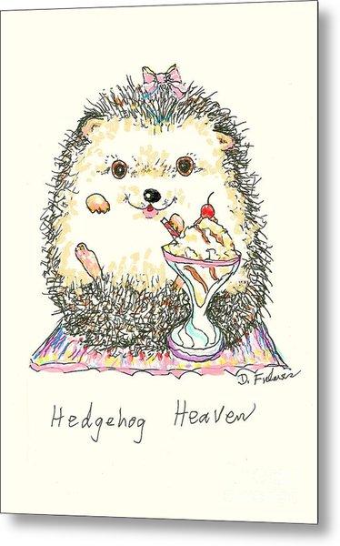 Hedgehog Heaven Metal Print