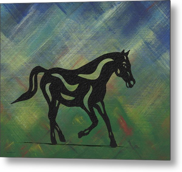 Heinrich - Abstract Horse Metal Print