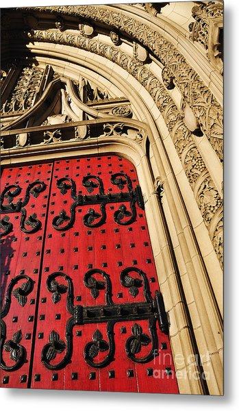 Heinz Chapel Doors Metal Print