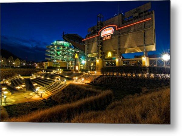 Heinz Field At Night Metal Print by Mark Dottle
