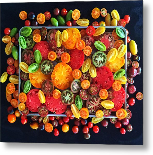 Heirloom Tomato Medley Metal Print