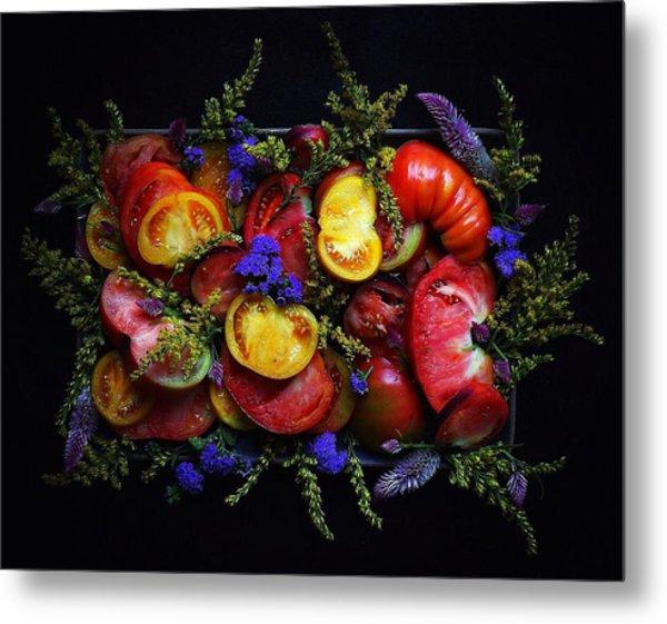 Heirloom Tomato Platter Metal Print