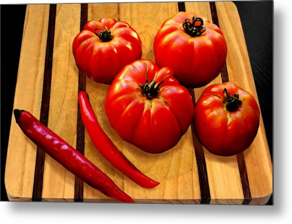 Heirloom Tomatoes Metal Print